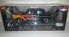 Highway 61 1957 Chevy 150 Utility Sedan Black flamed street machine 1:18 diecast