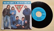 "STOP SECRET S.R.L. - ROCK NOW, SUBITO - 45 GIRI 7"" - ITALY PRESS"