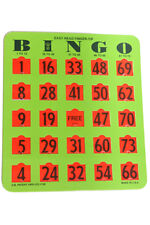 JUMBO NUMBER FINGER-TIP BINGO SHUTTER CARDS (25 COUNT)