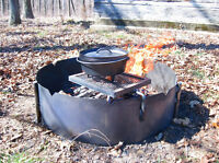 """36"""" Fire Ring with Swing Grate"""