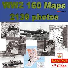 World War 2 - 160 Maps 2139 photos  WW2 on CD