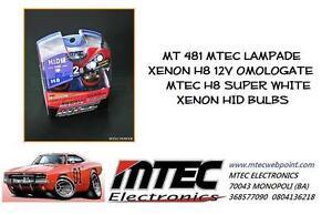MT 481 MTEC LAMPADE XENON H8 12V OMOLOGATE MTEC H8 SUPER WHITE XENON HID BULBS