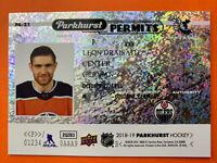 2018-19 Upper Deck Parkhurst Permits #PA-21 Leon Draisaitl  Edmonton Oilers