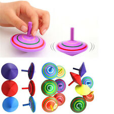 Wood Spinning Top Kids Colorful Wooden Gyro Toy Intelligence Classic Toy HOT