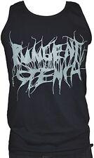PUNGENT STENCH - Grey-Logo - Black-Fruit-Of-The-Loom-Athletic Vest - L - 164144