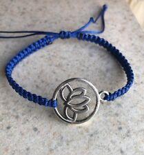 Charm Yoga Knitted Bracelet Handmade Fashion Adjustable Lotus