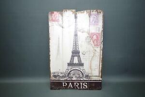 Immagine Quadro da Parete Torre Eiffel 60 CM X 40 Piastra di Legno Goth Vintage