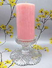 Splendido Cristallo Taglio a mano vintage in vetro candeliere Titolare Supporto per candela di grasso.