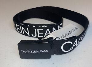 Calvin Klein Kids Unisex Canvas Logo Belt Brand New Size L-XL