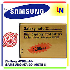 Batteria GOLD 4200mAh SAMSUNG NOTE 2 N7100 - Più autonomia dell'originale RICAMB