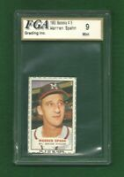 1963 Bazooka # 5 Warren Spahn Hand Cut Portrait FGA 9 4 MARGINS MINT