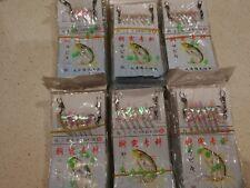 Quality Sabiki Jap  Bait Jigs. 6 packs. Size10/11/12/16/17/18 hooks freeship$13