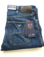 Armani Jeans J21 Regular Fit Straight Leg Denim Jeans - Blue W31L34 RRP £130 New
