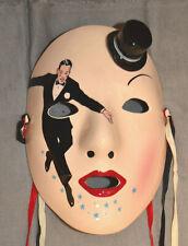 RARE 1983 Clay Art-Vandor Mask Dancing Hollywood  Ceramic Wall Mask