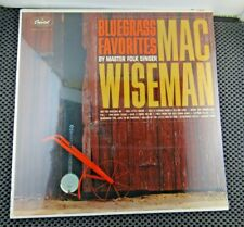 Mac Wiseman ‎– Bluegrass Favorites (Capitol Records ‎– T-1800) Sealed