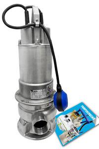 Edelstahl Schmutzwasserpumpe 230V Ebara DW VOX M 100 A Fördermenge 30 m³/h