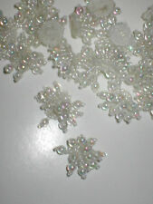 lot of 20... White color Beaded Appliques