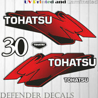 TOHATSU 30 HP Two Stroke outboard engine decal sticker set kit reproduction