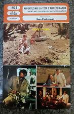 US Cult Movie Bring Me the Head of Alfredo Garcia French Film Trade Card