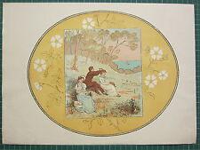 1898 RANDOLPH CALDECOTT STAMPA MR CHUMLEYS HOLIDAY PICNIC SIGNORE & GENTLEMEN