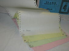 """Listing Paper 11""""x9.5"""" 4Part (Wh,Yw,Gn,Pk) Plain perf L&R margins  500sheets"""
