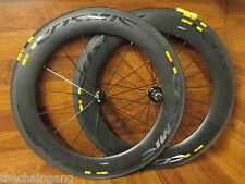 MAVIC COSMIC CXR 80MM 700C CARBON TUBULAR 11 SPEED SHIMANO SRAM WHEEL SET TIRES