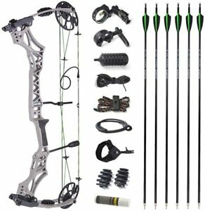 Compound Bow Arrows Set 30-70lbs Adjustable Archery Bow Hunting Shooting 320fps