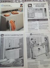 Maytag A312 Washer Dryer Vintage Operating Laundry Care Installation Manuals