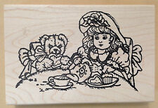 Mounted Rubber Stamps, Dolls, Teddy Bears, Doll Stamps, Tea Party, Tea, Birthday