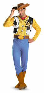 Disney Toy Story Woody Classic Adult Mens Costume Cowboy Halloween