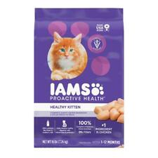New listing Iams Proactive Health Healthy Kitten with Chicken Dry Cat Food, 16 lb
