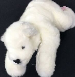 "Iceberg Polar Bear Russ Berrie 14"" White Stuffed Animal Plush Toy"