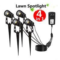 4Pcs 12W LED Flood Light Outdoor Landscape Garden Yard Light Path Lawn Spot Lamp