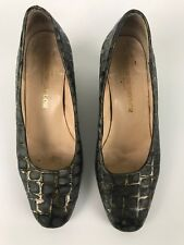 Morrow-Taylor Womens Leather Court Shoes Size 61/2 Crocodile Skin Look