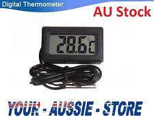 Black LCD Digital Thermometer for Fridge Freezer Aquarium FISH TANK Temperature