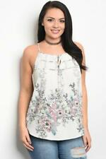 NEW..Lovely Plus Size Floral Print Singlet Top with Shirred Yoke.Sz16/2XL