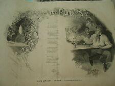 Gravure 1880 - Ce que l'on boit le Punch