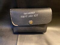 Vtg Leather Pouch Emergency First Aid Kit w/ Contents