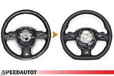 RICAMBIO S-LINE piatto Volante Palette cambio Volante in pelle AUDI A4, A6, A8