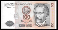 New ListingWorld Paper Money - Peru 100 Intis 1987 P133 @ Crisp Unc