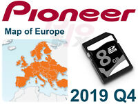 PIONEER  AVIC-F160 F160-2 F250 F260 GPS Map Update 2019 Europe SD add-on AVH
