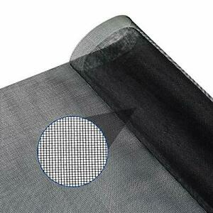 "Window Screen Replacement DIY Adjustable Fiberglass Screen Mesh Roll 48"" x 117"""