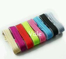 Lot 30 5ft USB Data Cord Fabric branded Colorful Cables for Apple iPhone 5/6/6s/