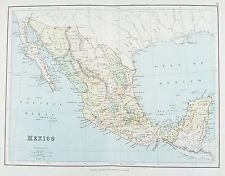 OLD ANTIQUE MAP MEXICO LOWER CALIFORNIA AMERICA by G PHILIP PRINTED COLOUR