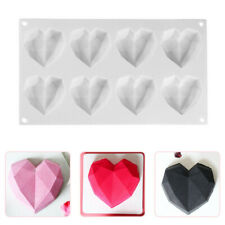 3D Diamond Heart Dessert Cake Mold Mousse Silicone Mould Chocolate DIY Tool