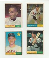 1961 Topps 4 Card Lot - Cleveland Indians - #'s 319, 385, 452 RC, 503
