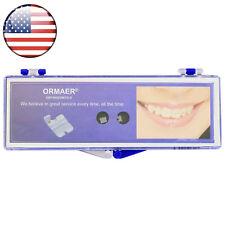 Ormaer Dental Ceramic Orthodontic Bracket Brace Roth 022 345 Hooks Mesh Base USA
