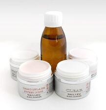 Acryl-Set Liquid 100ml+ 4x50ml/41g Pulver NAIL1EU klar, pink, weiß, makeup Spink