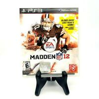 """Madden NFL 12"" EA Sports Sony PlayStation 3 Complete Excellent! Some wear."