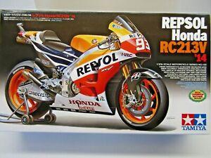 Tamiya 1:12 Scale Repsol Honda RC213V '14 Model Kit Marc Marquez Kit #14130 New